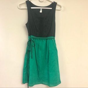 Maeve by Anthropologie Green and Black Dress